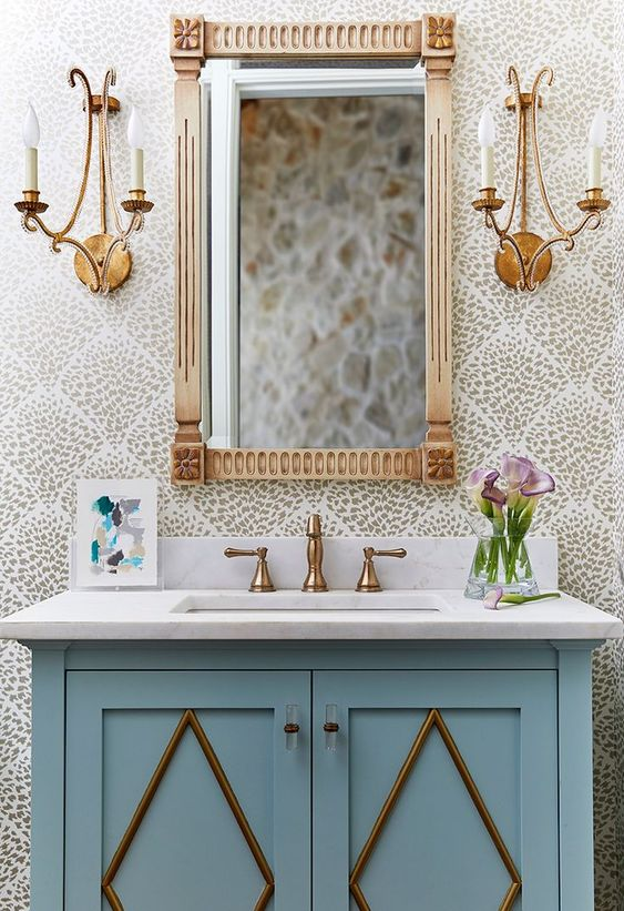12 Wonderfully Wallpapered Bathrooms Greyhunt Interiors